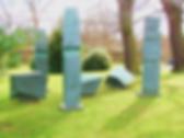 Sculpture in Modern Art Gallery Gardens