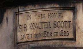 corner stone Sir Walter Scott House in Castle Street Edinburgh