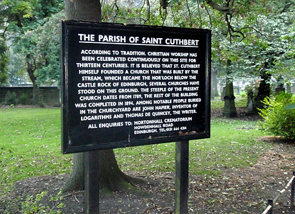 St Cuthbert's Church Burial Ground Edinburgh