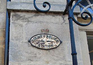 County Police Station Plaque Haddington