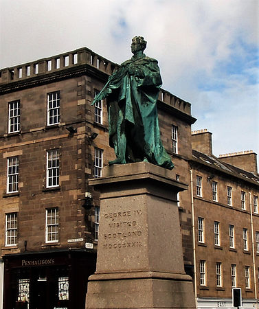 Statue of King George IV in George Street Edinburgh