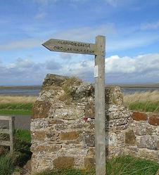 Kilspindie Castle signpost Aberlady East Lothian