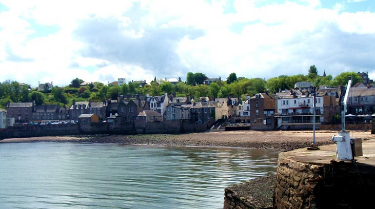 South Queensferry Beach where they Loony Dook