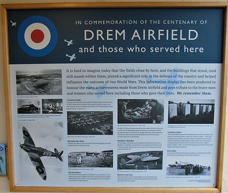 Drem Airfield Information Board.East Lot