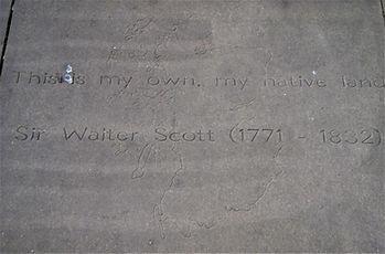 The Makars' Court Slab Sir Walter Scott