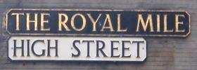 allaboutedinburgh royal mile high street sign