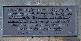 Wellhouse Plaque Comiston Spring Edinburgh