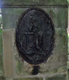 Lady and Anchor Gate Post Penkaet Castle