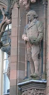 statues of james hutton, john hunter  scottish national portrait gallery queen street edinburgh