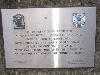 Flodden Wall Plaque Last remaining section of Edinburgh City Wall