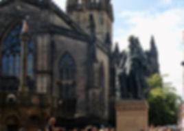 Adam Smith statue high street Royal Mile Edinburgh