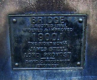 Stock bridge Plaque Edinburgh.