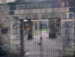 Greyfriar's kirkyard Covenanters' Prison gates Edinburgh