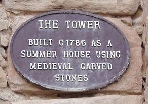 The Tower Plaque Portobello Built c 1785