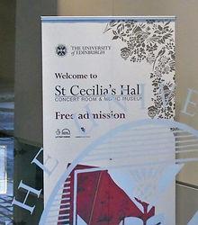 St Cecelia's Museum Sign