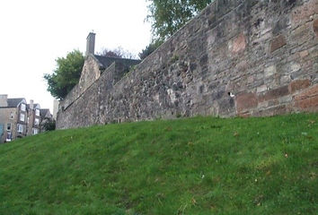 Flodden Wall Pleasance Last remaining part of City Wall