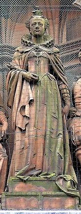 statue of Mary Queen of Scots scottish national portrait gallery queen street edinburgh