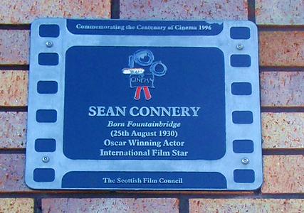Sean Connery's Birthplace Plaque Edinburgh