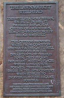 Lawnmarket Wellhead Plaque