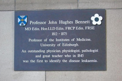 Professor John Hughes Bennet Leulaemia Discovery University of Edinburgh Medical School