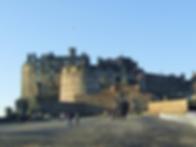 Edinburgh castle and edinburgh castle esplanade from Castlehill Royal Mile Edinburgh