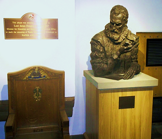 John Napire's Bust Napier College Edinburgh