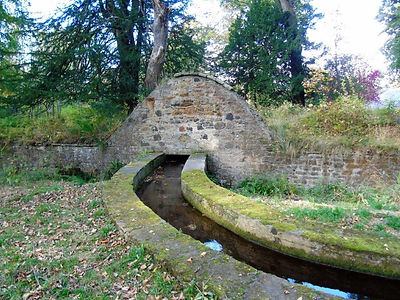 Gosford House Sunken Wall and Stream Gos