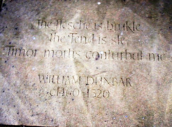 ROYAL MILE MAKARS' COURT WILLIAM DUNBAR.