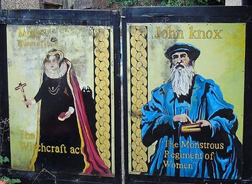Mary Queen of Scots and John Knox Mural