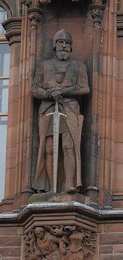 statues of Sir James Douglas scottish national portrait gallery queen street edinburgh