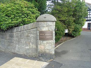 The Royal Burgess Golfing Society Entrance Sign