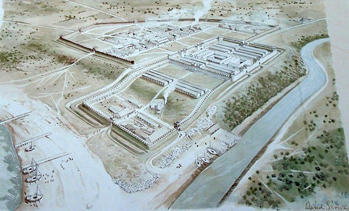 Roman Fort Cramond Edinburgh From Information Board