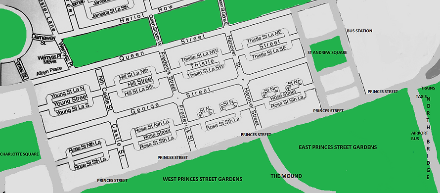 map of edinburgh new town