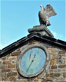 Stables Clock Gosford House Stone Swan on Top East Lothian