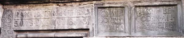 Nisbet's House Inscription  Canongate Ed