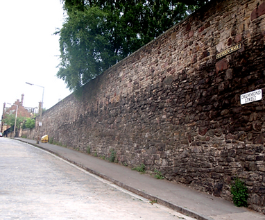 Flodden Wall Drummond Street Edinburgh City Wall.