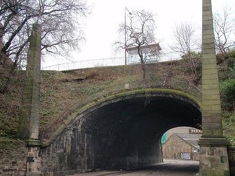 king's Bridge Johnston Terrace spanning King's Stables Road Edinburgh