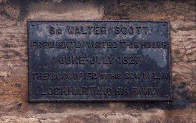 John Gibson Lockhart Sir Walter Scott's Biographer Lived Here Portobello Edinburgh