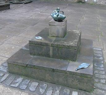 Sculpture James's Court Lawnmarket Royal Mile Edinburgh