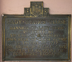 Lady Stair's Close and House Lawnmarket Royal Mile Edinburgh