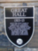 Edinburgh Castle Great Hall Plaque