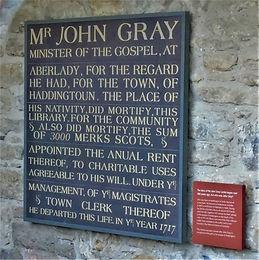 John Gray Plaque Haddington East Lothian