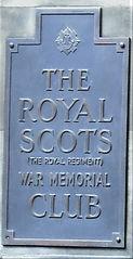 Royal Scots War Memorial Club Plaque.JPG