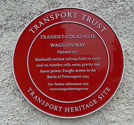 Waggonway Plaque. Cockenzie East Lothian