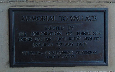 William Wallace Plaque Edinburgh Castle Esplanade