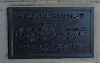 William Wallace Plaque Edinburgh Castle Esplanade