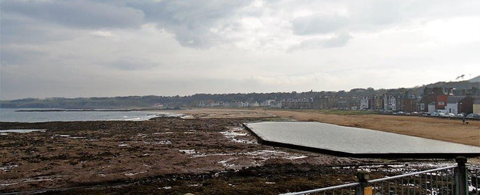 East Beach and sea pool North Berwick East Lothian