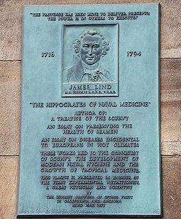 "University of Edinburgh James Lind MD F.R.C.PE / F.R.S.E ""The Hippocrates of Naval Medicine"""