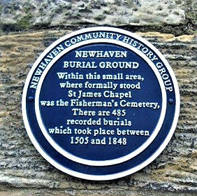 Newhaven Burial Ground Plaque Leith Edin