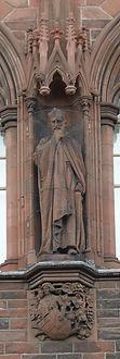 statue of Cardinal Beaton scottish national portrait gallery queen street edinburgh